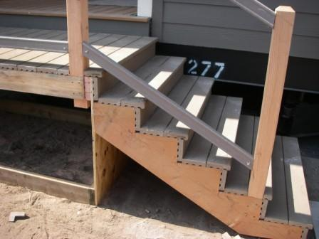Deck material is commonly plastic to last longer