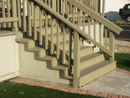 easy to work with mobile home stairs are often made of wood