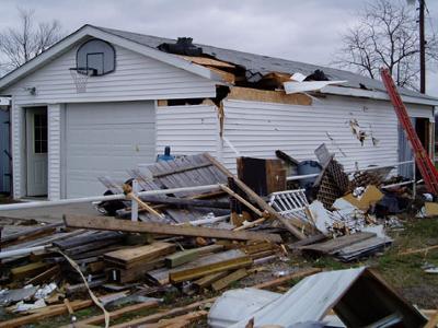 mobile home damage