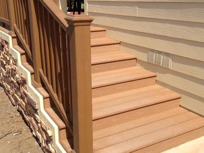 Manufactured home stairs and porch for Manufactured stairs