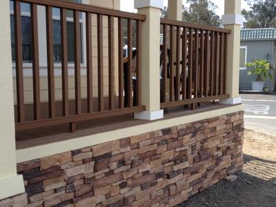 manufactured home stairs and porch